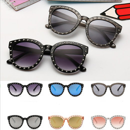 $enCountryForm.capitalKeyWord UK - 2019 New Spring Summer Children Sunglasses Fashion children rivet Sunglasses European&American style Kids Uv Protection Fashion Mirror child
