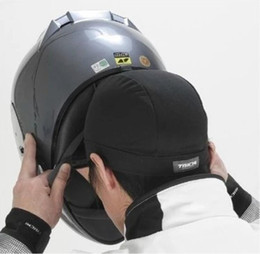 Motorcycle hood helmet lining wicking quick-drying cool dirty hooded summer hood knight hat on Sale