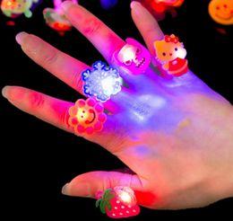 $enCountryForm.capitalKeyWord Australia - Theme Party Night Toys Halloween Cartoon Ring Ghost Pumpkin Bat Finger Rings Kids Flashing LED Light New Arrival Christmas LED Gadget CY31