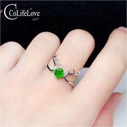 $enCountryForm.capitalKeyWord NZ - Fashion silver deer head ring for girl 4 mm natural chrome diopside silver ring 925 silver diopside jewelry for party