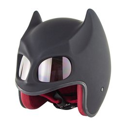 motorcycle helmet cool NZ - Motorcycle Electric Bicycle Riding Safety Helmet Cool Bat Ear Semi-Helmet Retro Electric Bicycle Youth Motorcycle Helmet