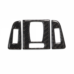 Air conditioned sticker online shopping - Carbon Fiber Centre Interior Central Control Outlet Air Conditioning Vent Frame Trim Sticker Button For BMW Series F30 F34 GT