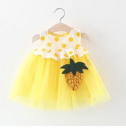Petal bag online shopping - kids Girl designer clothes Dress Summer Sleeveless Pineapple bag with Polka dots Print Design Lolita Dress Princess Girl Clothing Dress