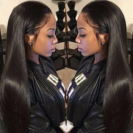 $enCountryForm.capitalKeyWord Australia - Long Straight Lace Front Wigs 18-26 inch Synthetic Long African Black Chemical Fiber Hair Heat Resistance Female Wig