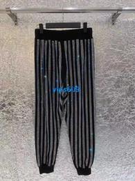 $enCountryForm.capitalKeyWord NZ - High end women girls Pants Vertical stripes hot drilling Drawstring Pants Women Casual long Pants Baggy Slacks Trousers Elastic Waist