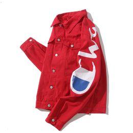 Chinese  2019 New Style Designer Men Denim Jacket Winter Luxury Jean Coat Men Women Long Sleeve Outdoor wear Mens Clothing Women Clothes Tops manufacturers