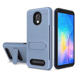 Discount credit card moto - Hybrid Brushed Armor Kickstand Case For Samsung J4 Plus J6 Plus J2 Core For Motorola Moto G7 Power Credit Card Slot Cove