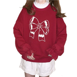 $enCountryForm.capitalKeyWord Australia - Lovely Red Women Hoodies 90s Clothes Japanese Lolita Kawaii Oversized Teenage Girl Pullover Cute Graphic Christmas Sweatshirt SH190913