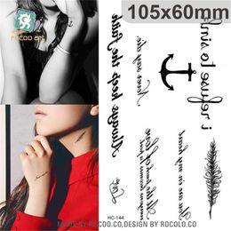 $enCountryForm.capitalKeyWord Australia - Body Art Sex waterproof temporary tattoos paper for men and women simple 3d Anchor design small tattoo sticker Wholesale HC1144