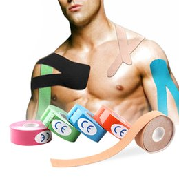 $enCountryForm.capitalKeyWord Australia - 2019 Fitness Bandage Kinesiology tape 2.5cm Sports Muscle Protector Waterproof Physio Therapy Muscle Safety Tape Skin Protector