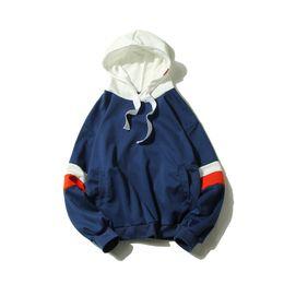 $enCountryForm.capitalKeyWord Australia - Korean Patchwork Hoodies Men Teenager Trendy Hip Hop Oversize Causal Student Sportwear Cotton Stylish Sweatshirt Hoodie 5XL
