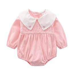 $enCountryForm.capitalKeyWord UK - Spring and Autumn Baby Clothes One-piece Lovely Laisse Hat Skirt Triangular Long Sleeve Pure Cotton Hat Clothes for 0-12 months