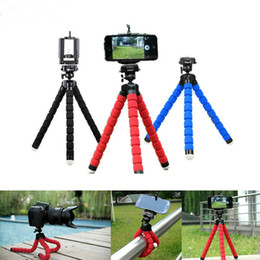 octopus tripod stand phone holder NZ - Universal Flexible Octopus Sponge Stand Tripod Mount Car Holder Selfie Bracket Monopod For Samsung iPhone Cell Phone Camera With Clip