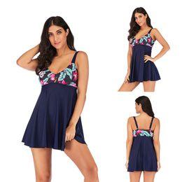Discount swimsuit boxers women - Floral Swim Dress Swimsuits Boxer Shorts Swimwear Summer Beach Wear Bathing Suit Swimdress Women Clothes Plus Size 19057
