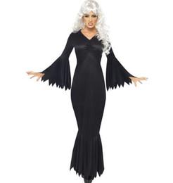 Skeleton Clothes Australia - Halloween Costumes Women Scary Uniform Bodysuit Ghost Horror Skeleton Print Cosplay Dress Clothing Long Bat Halloween Clothing
