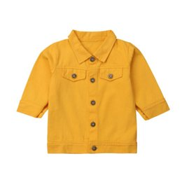 $enCountryForm.capitalKeyWord NZ - Toddler Kids Baby Girls Clothes Jacket Long Sleeve Casual Spring Autton Coat Outerwear Clothes Girl 1-6T