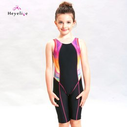 child sports swimwear Canada - New Girls Swimsuit Professional Sport Swim Suit Children Swimming Suit One-piece Swimwear For Kids Pool Training Bathing Suit Y19072601