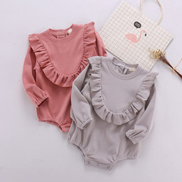 Kids Princess Rompers NZ - Baby Rompers Newborn Girls Clothes Princess Ruffles Onesie Infant Jumpsuits Toddler Playsuits Children Clothes Kids Clothing