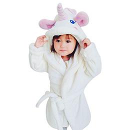 $enCountryForm.capitalKeyWord NZ - Bathrobes For Girls Unicorn Nightgown Baby Boys Velvet Robes Kids Cartoon Pajamas Children Pokemon Bath Robe Home Wear Clothing J190520
