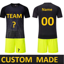 27bf335c453 Customize Men futebol Soccer Jerseys Set Youth Kids Football Training Suit  maillot de foot Custom Your Name Number DK2020ZQ
