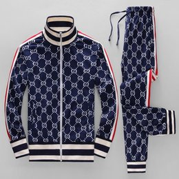 Chinese  2019 Jackets Set Fashion Running Tracksuits For Men Sports Suits Colorful flowers printing Hoodies Clothing Track Suit Medusa Sportswear manufacturers