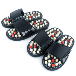 Therapy slippers online shopping - Acupoint Massage Slippers Sandal For Men Feet Chinese Acupressure Therapy Medical Rotating Foot Massager Shoes