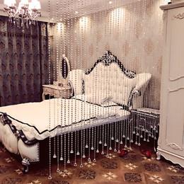 Toptan satış Ev Dekorasyon cortinas Lüks Translucidus Kristal Perde Flaş Hattı Parlak Katı Boncuk Dize Kapı Perde Pencere Odası Bölücü