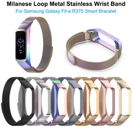 smart watch samsung galaxy NZ - Magnetic Milanese Loop Metal Band Stainless Steel Wrist Band Strap For Samsung Galaxy Fit-e R375 Smart Bracelet Watch Strap