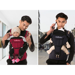 DaD mom baby online shopping - Ibelibaby Baby Carrier Backpack Portable Hip Seat Baby Sling Wrap Cotton Infant Newborn Carrying Belt for Mom Dad