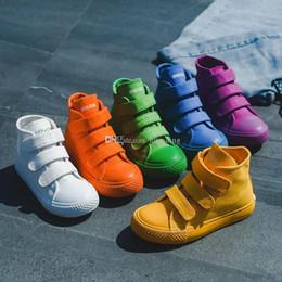 $enCountryForm.capitalKeyWord Australia - Kids shoes baby canvas Sneakers Breathable Leisure designer shoes children boys girls High top Shoes 5 colors C6786