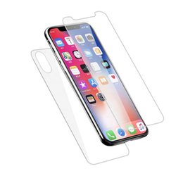 Iphone Back Glasses Australia - For iphone XR 6.1 Front And Back Tempered Glass Screen Protector 0.33mm 2.5D Smartphone Cover For iphone XS 5.8 Iphone XS Max 6.5