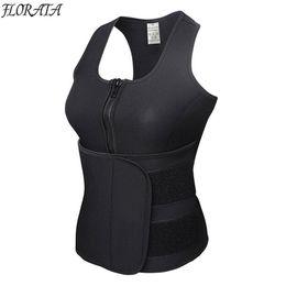 8b17727148 FLORATA New Vest Body Shaper Slimming Waist Trimmer Trainer Belt Women  Shapewear Weight Loss Neoprene Sauna Tank Top Sweat Belt