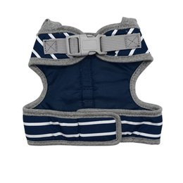 dog vest harnesses NZ - Durable Cat Dog Harness Leash Set Striped Vest Harnesses for Small Medium Dogs Puppy Yorkshire Liners Filling Cotton