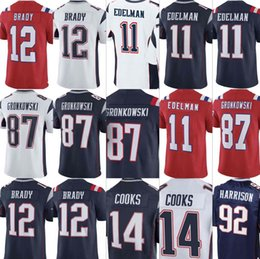 e2576635b Mens Patriots 11 Julian Edelman 12 Tom Brady 87 Rob Gronkowski 92 James  Harrison 14 Brandin Cooks Jerseys Stitched S-XXXL01