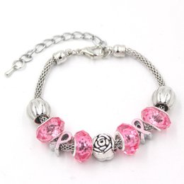 864609922b8 Cancer Ribbon Jewelry Australia - New Arrival European Style Breast Cancer  Awareness Jewelry Rose Pink Ribbon