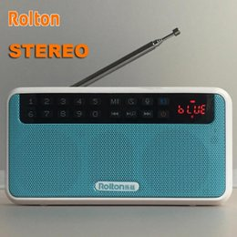 Discount bass packs - Rolton E500 Portable Stereo Bluetooth Speaker Bass Dual FM Radio Recordable TF Music Player With LED Display