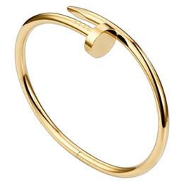 Toptan satış Yeni Moda Aşk Bilezikler Bling Bling Rhinestone Kadınlar Tasarımcı Bilezik Elmas Tırnak Takı Lüks Altın Bilezikler ile Kutusu