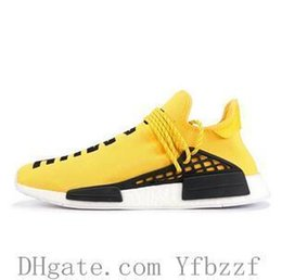$enCountryForm.capitalKeyWord NZ - With Box Nmd Human Race Running Shoes For Mans Pharrell Williams Sample Yellow Core Black Sport Designer Shoes Men Women Sneakers 36-45