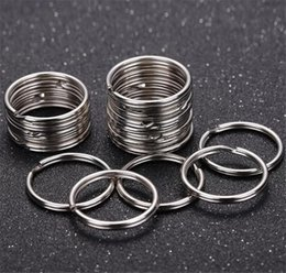 Resin Connectors Australia - 1.5*25mm Circle Keyring Keychain Fit Bead Charm Connectors DIY Steel Accessories Material Accessories DIY Key Ring