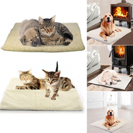 pet heat mats Australia - Home Textile Large Self Heating Dog Bed Mat Soft Warm Pet Cat Rug Thermal Washable Pad Warm Carpet