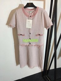 $enCountryForm.capitalKeyWord Australia - high end women girls knitted t-shirt tassel stretch viscose tee short sleeve sweater top midi skirt short dress 19 fashion design luxury set