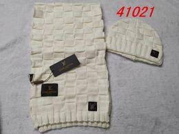 $enCountryForm.capitalKeyWord Australia - Hot Sale Fashion Winter Warm Cashmere Hat High Quality Cap Men Women wool Scarf Hats Knitted Caps Scarf Sets, HATS&SCARF MUFFLER