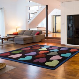 $enCountryForm.capitalKeyWord Australia - ALITEXTILEBTOC Customizable Size Carpet For Home 100% Acrylic Heart-Shaped Cute Rectangular Rug Hand Carved Non-Slip Carpet