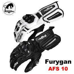 $enCountryForm.capitalKeyWord Australia - Furygan -10 gloves made of carbon fiber leather motorcycle Cycling knight Long section gloves locomotive Anti-fall Motocross
