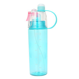 8d7f4cd837 Sport Cycling Mist Spray Water Gym Beach Bottle Leak-proof Drinking Cup  kettle Portable Water Bottle for Travel Yoga Running
