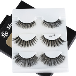 $enCountryForm.capitalKeyWord Australia - 3 Pairs  box Mixed Mink Hair False Eyelashes Natrual Long Wispy Glam Lashes Winged Line Eye Makeup Beauty Tools Wimpers