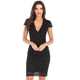 9f8b96594 2019 New Fashion Sexy See Through Lace Mesh Top Bodycon Dresses Woman  Clothes