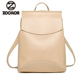 cream blue leather backpack NZ - Fashion Women Backpack Youth Vintage Leather Backpacks For Teenage Girls New Female School Bag Bagpack Mochila Sac A Dos Y190627