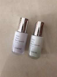 Color Mixing Light Bulbs Australia - New Hot brand Laneige Water Glow Base Corrector primer 2 styles Light Green & purple bottle 35ml Moisturizing makeup primer