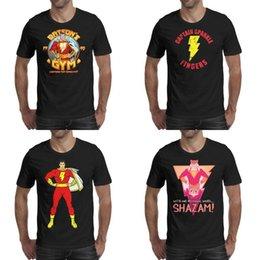 $enCountryForm.capitalKeyWord Australia - Mens printing Shazam dc movie BATSON'S GYM - LIGHTNING FAST black t shirt Design Slogan Make a Shirts Urban Captain Sparkle Fingers hero